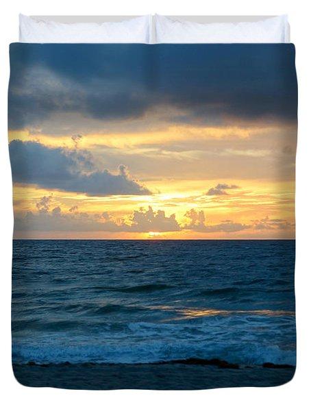 Sunrise In Deerfield Beach Duvet Cover