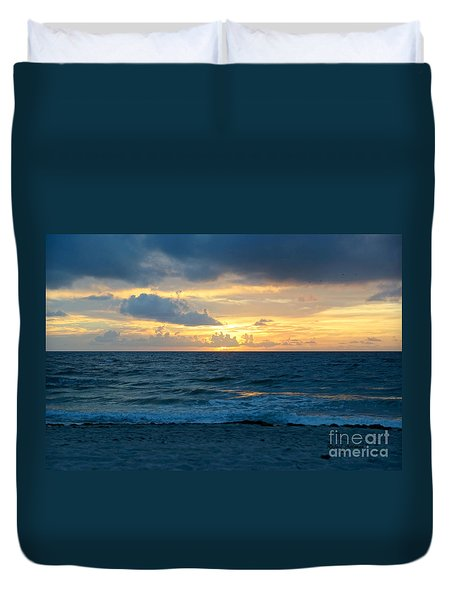Sunrise In Deerfield Beach Duvet Cover
