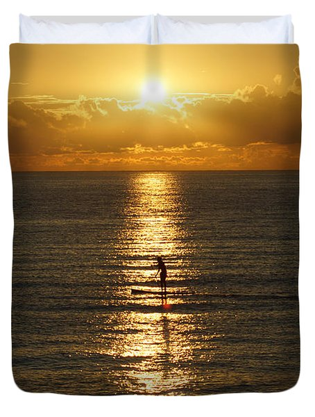 Sunrise In Florida Riviera Duvet Cover