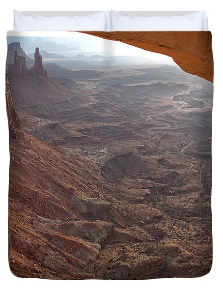 Sunrise Mesa Arch Canyonlands National Park Duvet Cover
