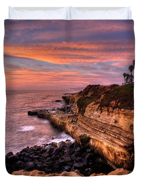 Sunset Cliffs Duvet Cover