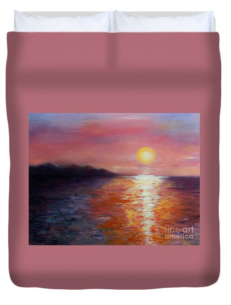 Sunset In Ixtapa Duvet Cover