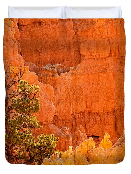 Sunset Point Bryce Canyon National Park Duvet Cover
