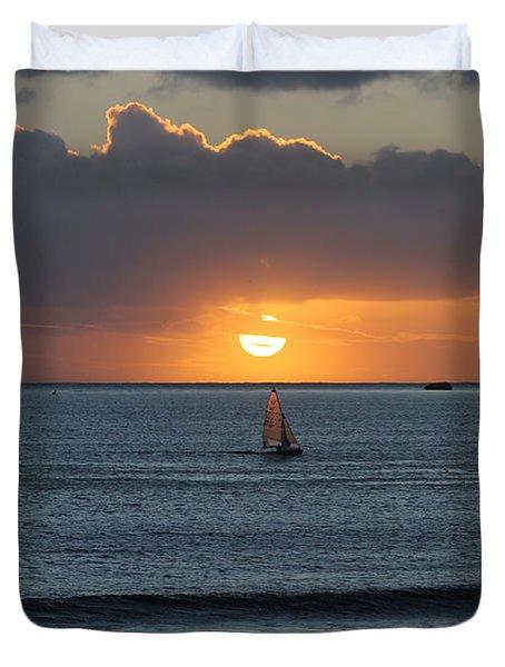 Sunset Sail Duvet Cover
