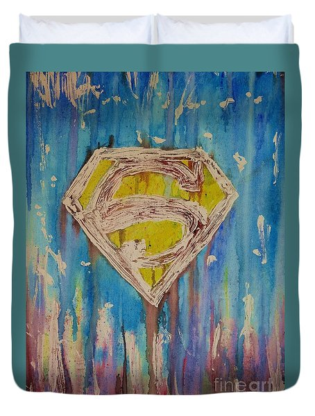 Superman's Shield Duvet Cover