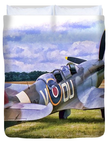 Supermarine Spitfire T9 Duvet Cover