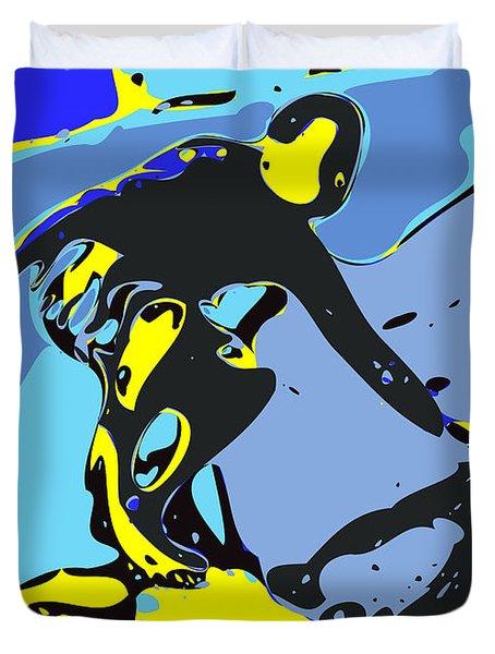 Surfer Duvet Cover by Chris Butler