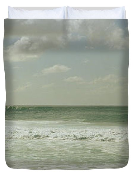 Surfer Standing On The Beach, North Duvet Cover