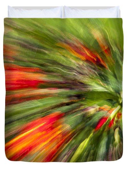 Swirl Of Red Duvet Cover by Jon Glaser