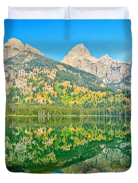 Taggart Lake Duvet Cover by Greg Norrell
