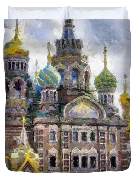 Temple Russia Duvet Cover