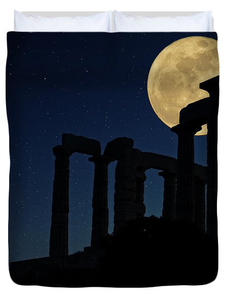 Temple Of Poseidon  Duvet Cover