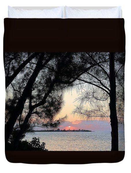 Duvet Cover featuring the photograph Tequila Sunrise by Amar Sheow