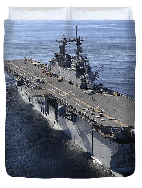 The Amphibious Assault Ship Uss Duvet Cover