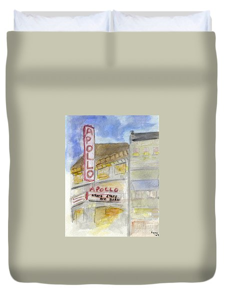 The Apollo Theatre Duvet Cover by AFineLyne