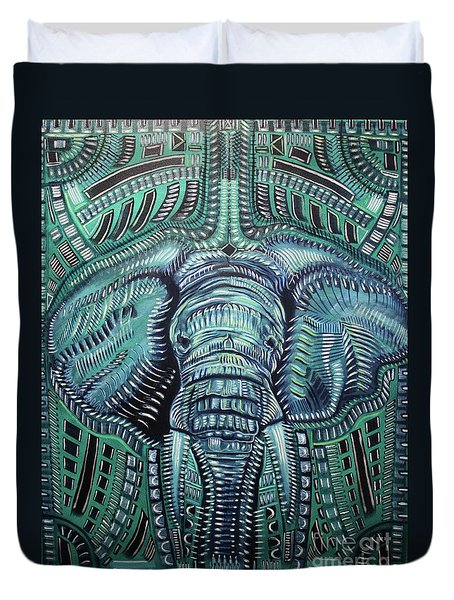 The Beast Duvet Cover by Michael Kulick