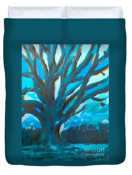 The Blue Tree Duvet Cover