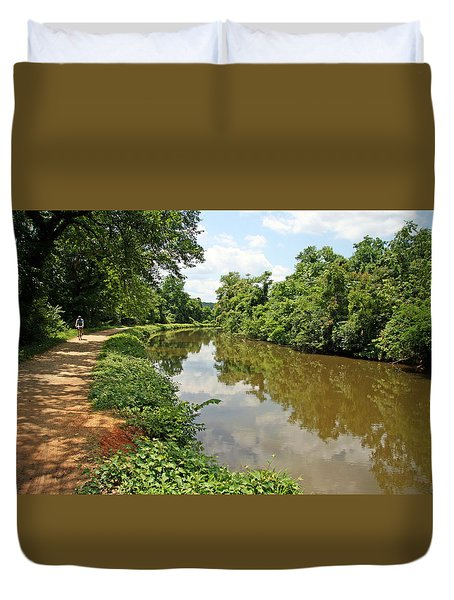 The Chesapeake And Ohio Canal Duvet Cover by Cora Wandel