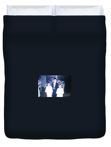 Duvet Cover featuring the photograph The Cousin Crush by Kelly Awad