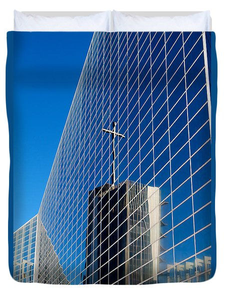 Duvet Cover featuring the photograph The Crystal Cathedral by Duncan Selby