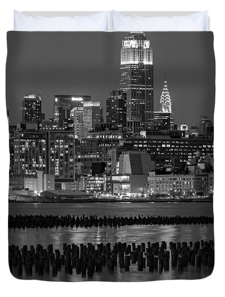 The Empire State Building Pastels II Duvet Cover