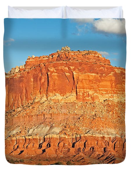 The Goosenecks Capitol Reef National Park Duvet Cover