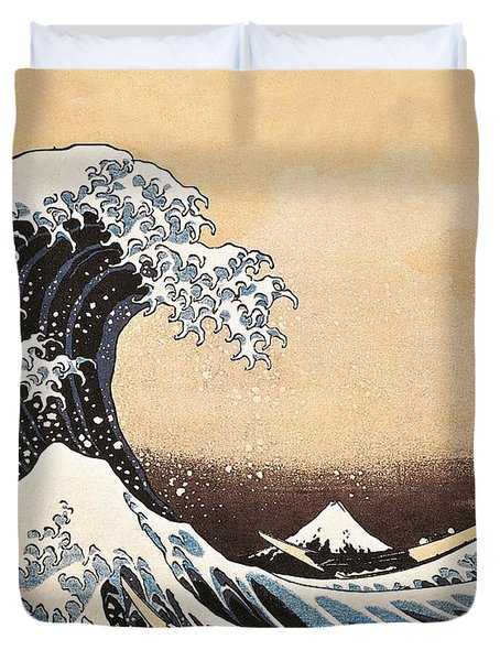 The Great Wave Of Kanagawa Duvet Cover by Hokusai