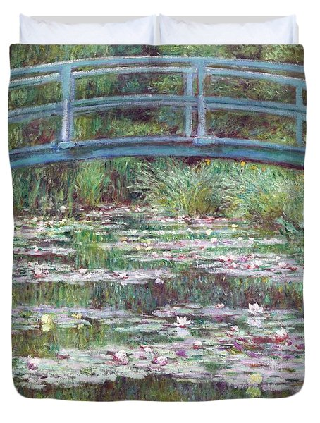 The Japanese Footbridge Duvet Cover by Claude Monet