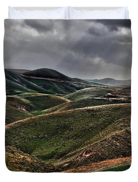 The Lord Is My Shepherd Judean Hills Israel Duvet Cover