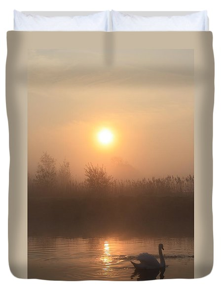 The Peace Of Dawn Duvet Cover by Linsey Williams