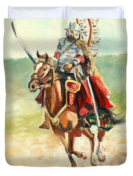 The Polish Winged Hussar Duvet Cover