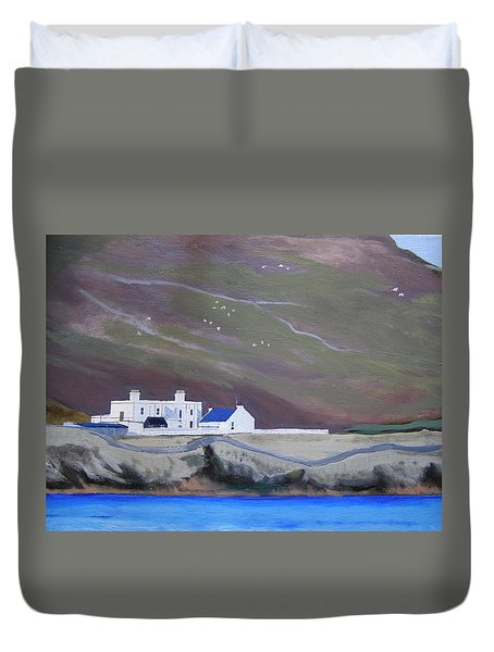 The Shore Station At Burrafirth Duvet Cover
