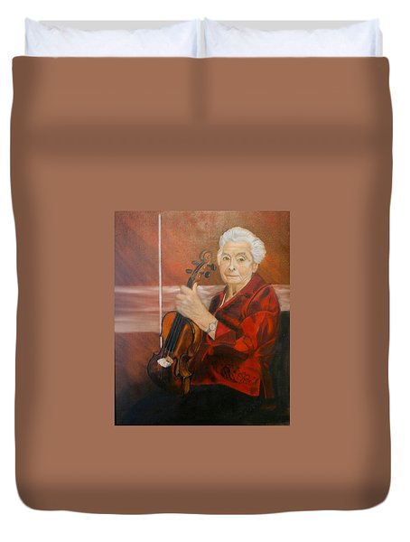 The Violin Duvet Cover