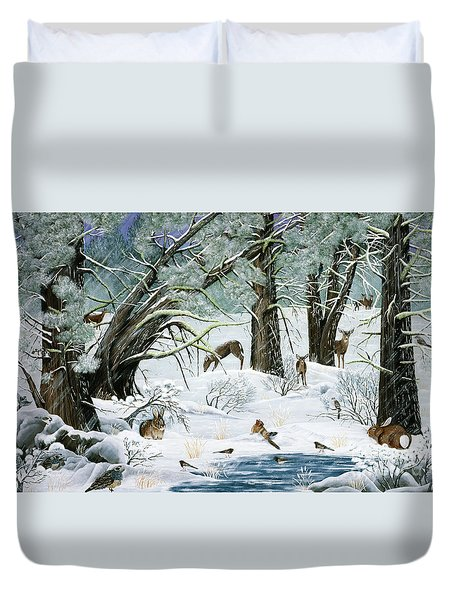 They Said It Wouldn't Snow Duvet Cover