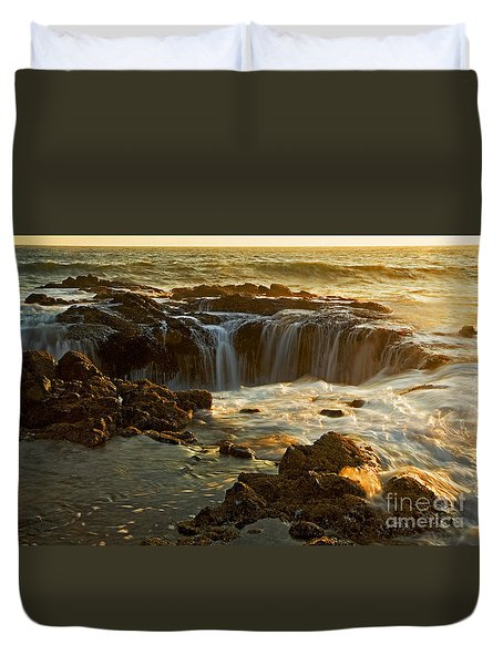 Thor's Well Duvet Cover by Nick  Boren