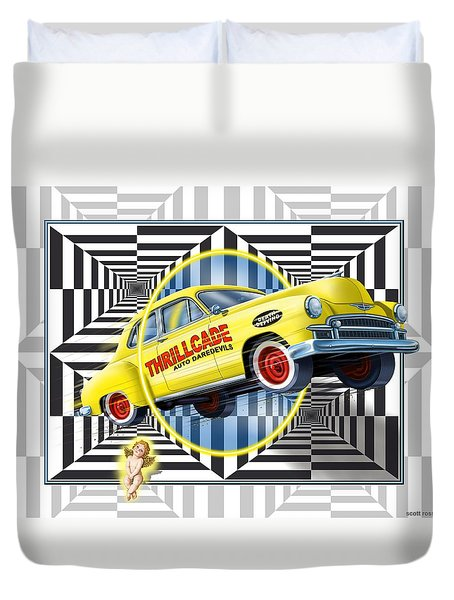 Thrillcade Duvet Cover by Scott Ross