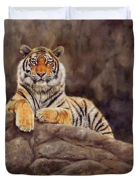 Tiger Duvet Cover by David Stribbling