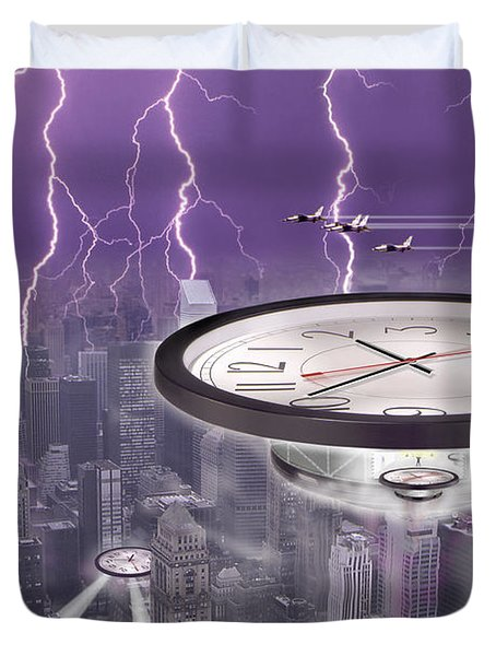 Time Travelers Duvet Cover by Mike McGlothlen