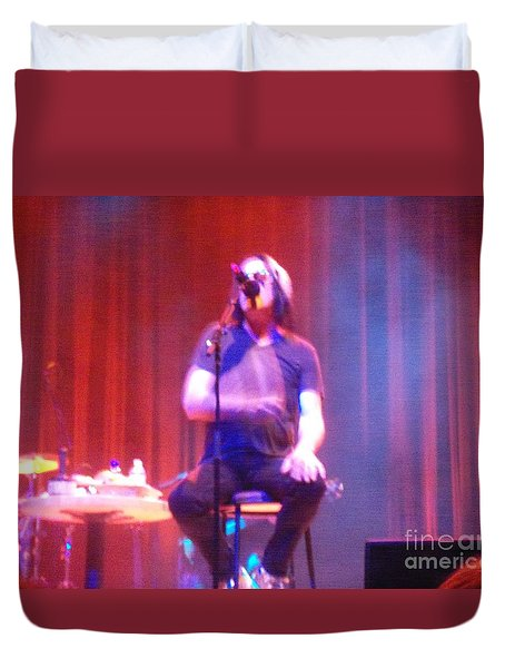 Duvet Cover featuring the photograph Todd by Kelly Awad