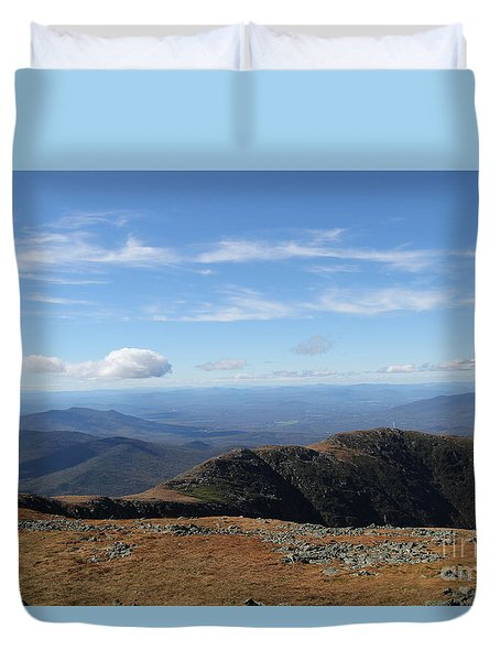Top  Mt Washington  Duvet Cover