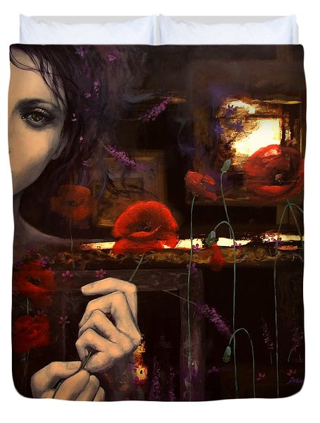 Touching The Ephemeral Duvet Cover by Dorina  Costras