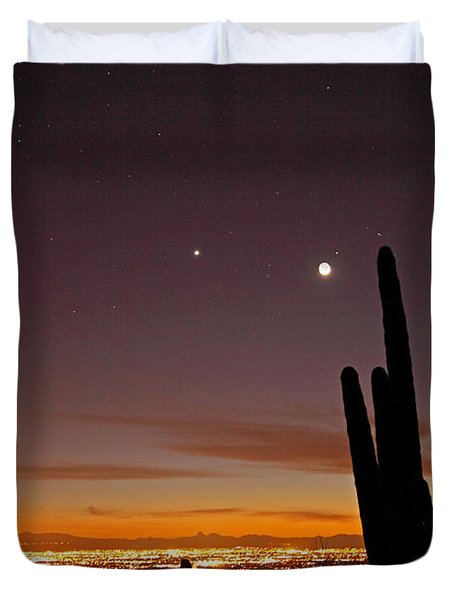 Tucson At Dusk Duvet Cover