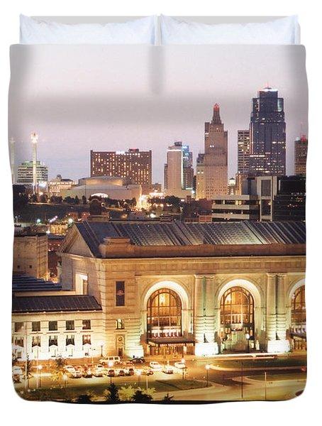 Union Station Evening Duvet Cover