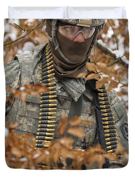 U.s. Army Soldier Conducts A Dismounted Duvet Cover by Stocktrek Images