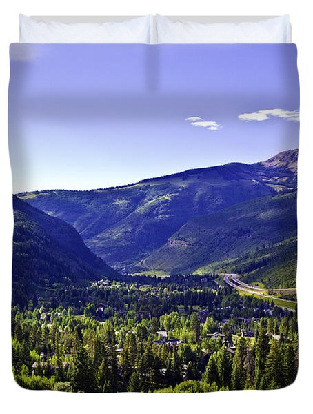 Vail Valley View Duvet Cover
