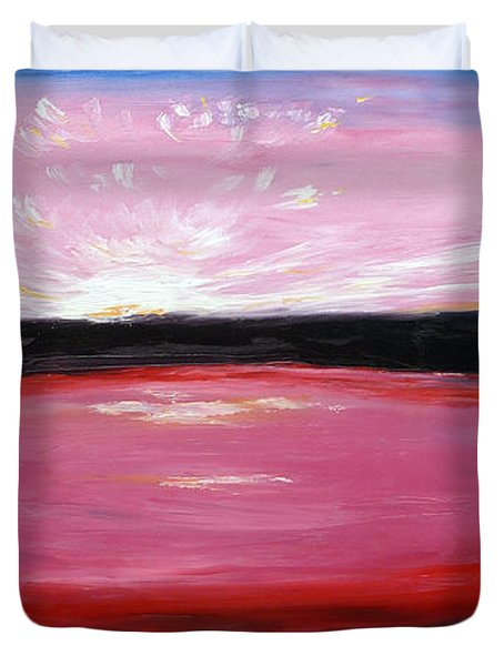 Duvet Cover featuring the painting Vanquished by Meaghan Troup