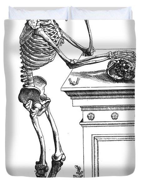 Vesalius: Skeleton, 1543 Duvet Cover