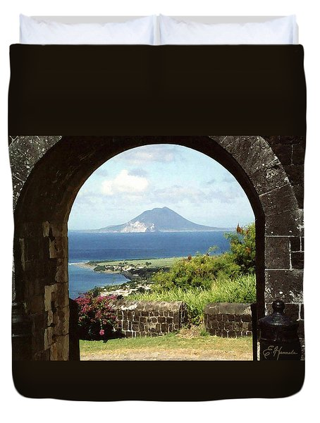 View From Brimstone Hill Fortress Duvet Cover by Ellen Henneke