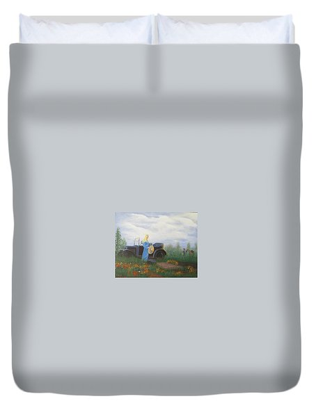 Waiting For A Picnic Duvet Cover