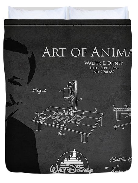 Walt Disney Patent From 1936 Duvet Cover